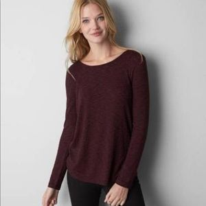 American eagle cowl neck back sweater